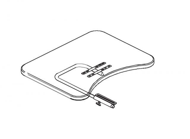 Ensemble tablette plexi sans rebords et découpe