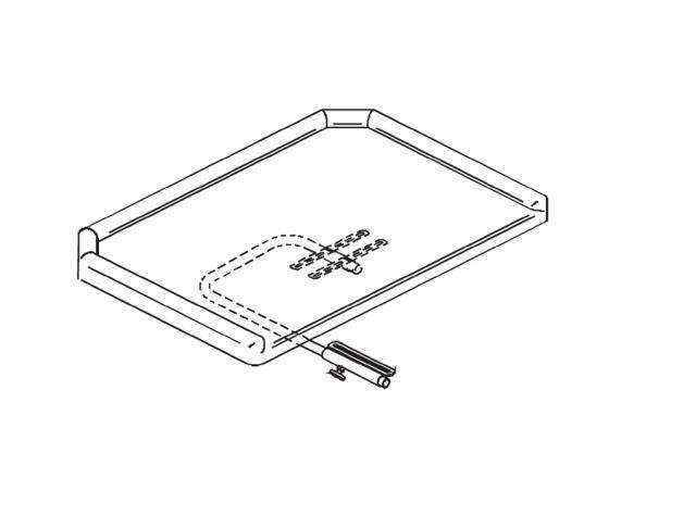 Ensemble tablette polyester avec rebords sans découpe