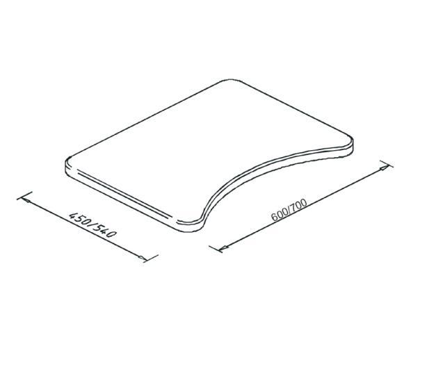 Tablette plexiglas