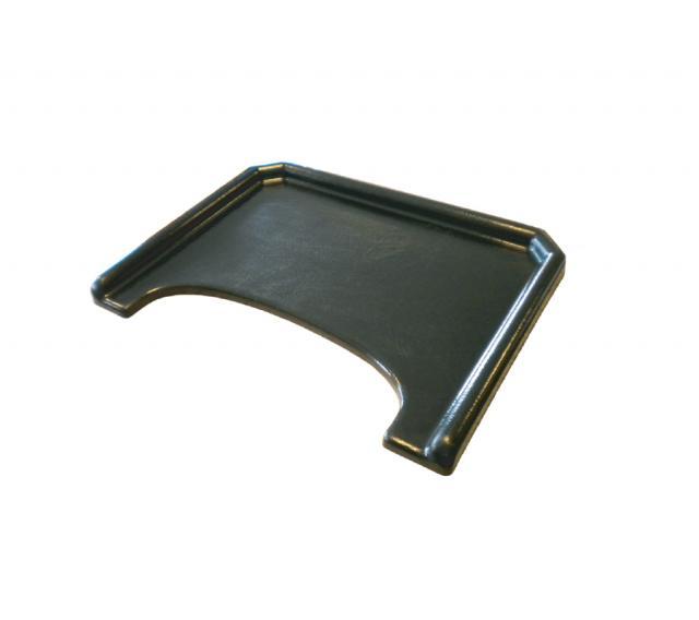 Tablette polyester avec rebords et découpe