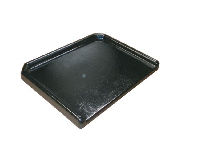 Tablette polyester avec rebords sans découpe
