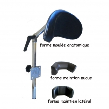 Ensemble tube réglable + appui-tête