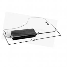 1/2 Tablette plexi T2 côté droit